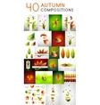 Mega set of autumn concepts vector image