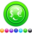 Money exchange circle button vector image vector image