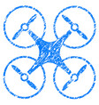 nanocopter grunge icon vector image vector image