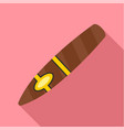 nicotine cigar of cuba icon flat style vector image vector image