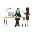 office worker in office clothes vector image