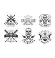 outlaw street criminal retro labels set ghetto vector image