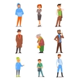 People of Different Lifestyle Age and Profession vector image