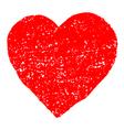 Red Valentine Heart Grunge Background vector image
