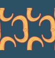 ribs seamless pattern bone ornament medical vector image