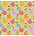 Seamless colorful apple and pear pattern vector image