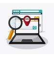 Searching online design digital marketing vector image vector image