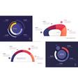 set circle chart designs modern vector image vector image
