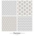 set flourishes seamless pattern backgrounds vector image vector image