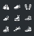 set footwear icons vector image