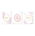 set luxury wedding invitation card with gold vector image vector image
