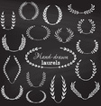 set of chalk wreaths vector image vector image