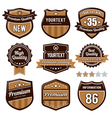set retro badges vector image vector image