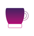 silhouette coffee cup drink beverage icon vector image