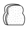 silhouette delicious and fresh chopped bread vector image vector image
