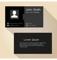 simple black and gray business card design eps10 vector image vector image