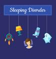 sleeping disorder concept vector image
