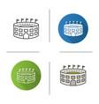 stadium building icon vector image