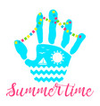 summer time palm ocean vector image