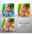 summer tropical leaves background collections vector image vector image
