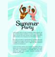 summertime party girls dancing in ocean summer vector image vector image