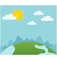 sunny landscape vector image vector image
