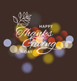 thanksgiving day banner autumn template vector image