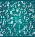 the pattern composed from letters vector image vector image