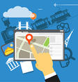 Travel destination vector image