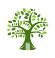 tree house creative logo concept vector image vector image