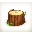 Tree stump vector image