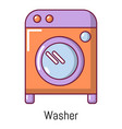 washer icon cartoon style vector image