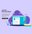 web page template online recruitment job design vector image vector image