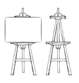 Wooden easel and canvas vector image vector image