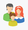 flat style couple with child vector image
