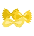Pasta products farfalle vector image