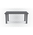 3d table for object presentation empty dark top vector image vector image