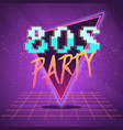 80s retro wave label vector image vector image