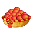 A basket of fruits vector image vector image