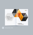 abstract double-page brochure design hexagon style vector image vector image