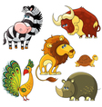 african wild animals set vector image