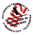 Assembled in Honduras rubber stamp vector image vector image
