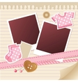 baby frame for photos vector image vector image