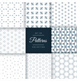 beautiful minimal pattern pack collection in 8 vector image vector image