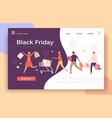 black friday web page shop big sale and discount vector image vector image