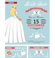 Bridal shower template setLovely Bride vector image vector image