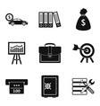 business portfolio icons set simple style vector image vector image