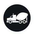car concrete mixer truck model transport vehicle vector image vector image