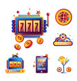 casino poker gambling game icons vector image