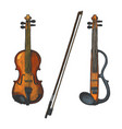 classical and electric violins vector image vector image
